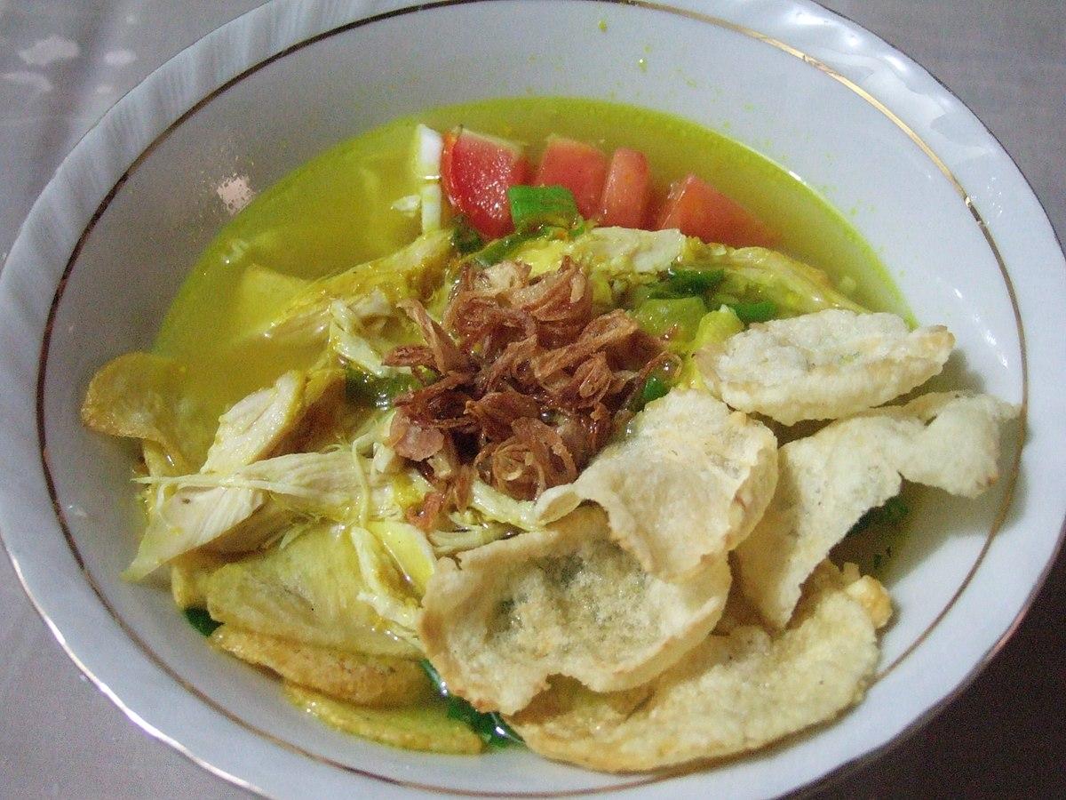Sopa Típica de Indonesia Soto Betawi