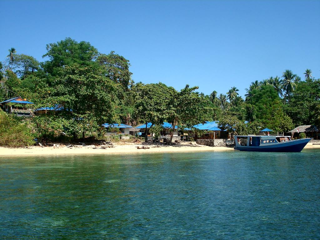 Playas en Bunaken, Indonesia