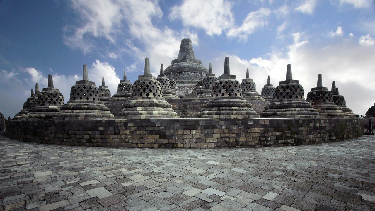Compuestos del Templo de Borobudur, Java Central