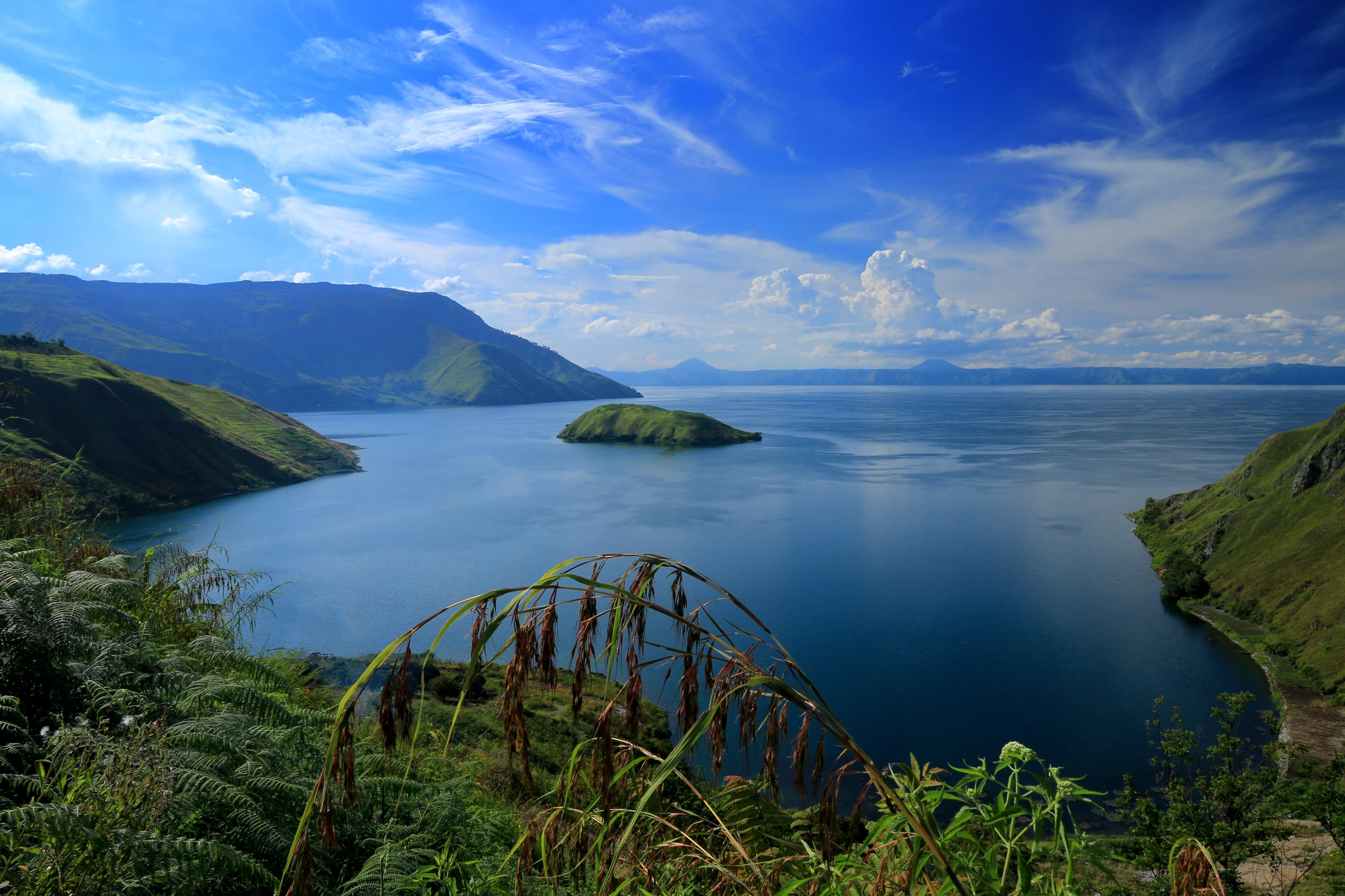 Vista desde el Lago Toba