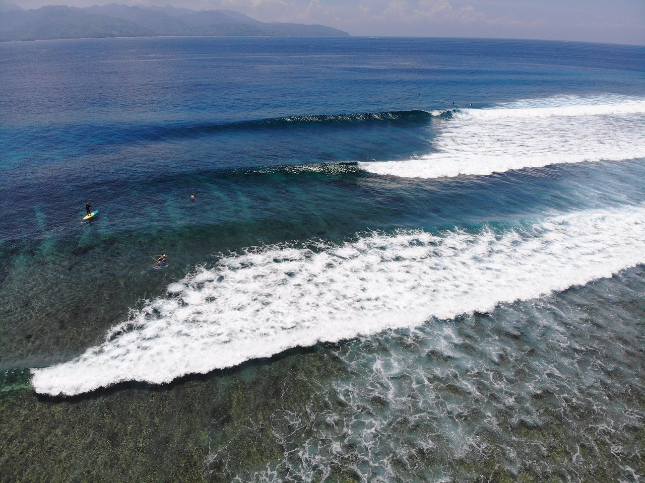 Surfing in Gili Islands, Lombok, Indonesia