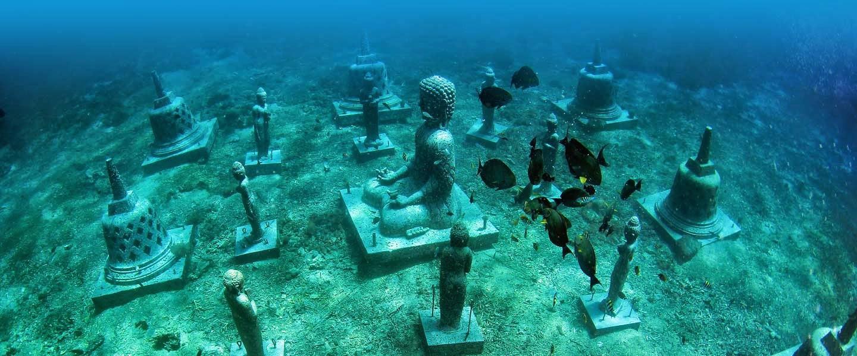 Estatuas bajo el Agua Nusa Penida