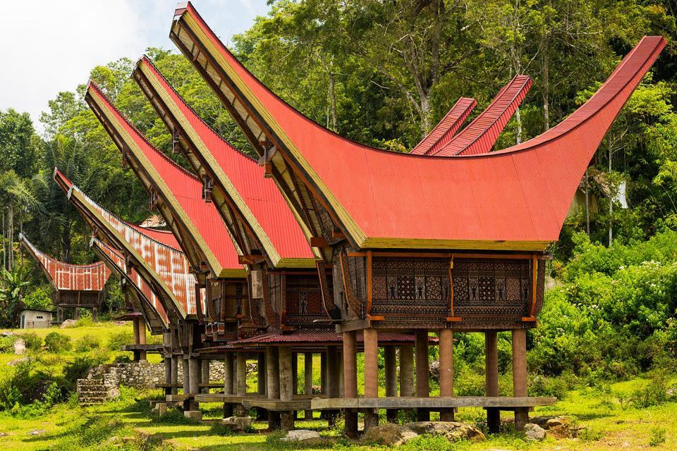 Casas de Tongkonan