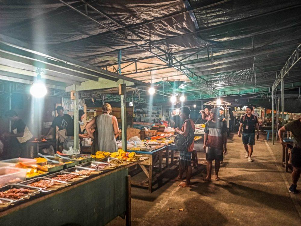 mercado nocturno loca en Gili Trawangan