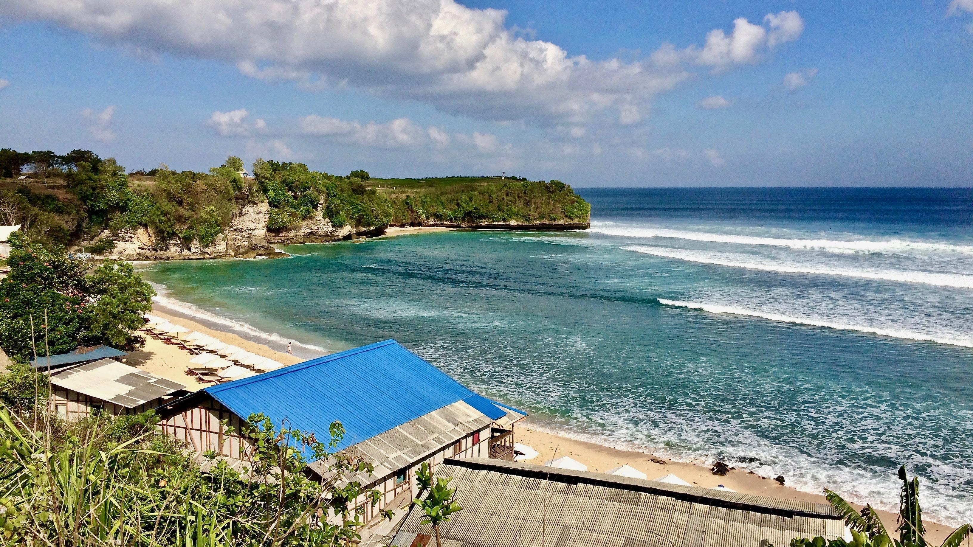 la playa de Balangan.