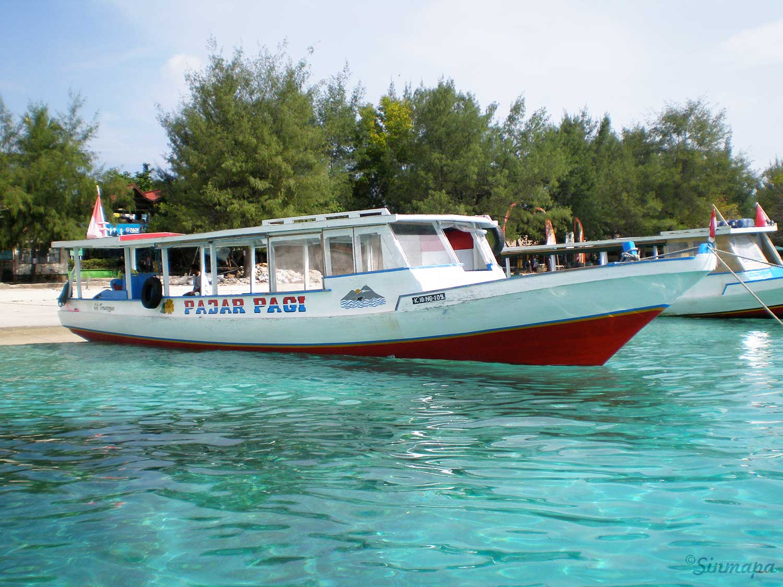 tour en barco en Gili Trawangan