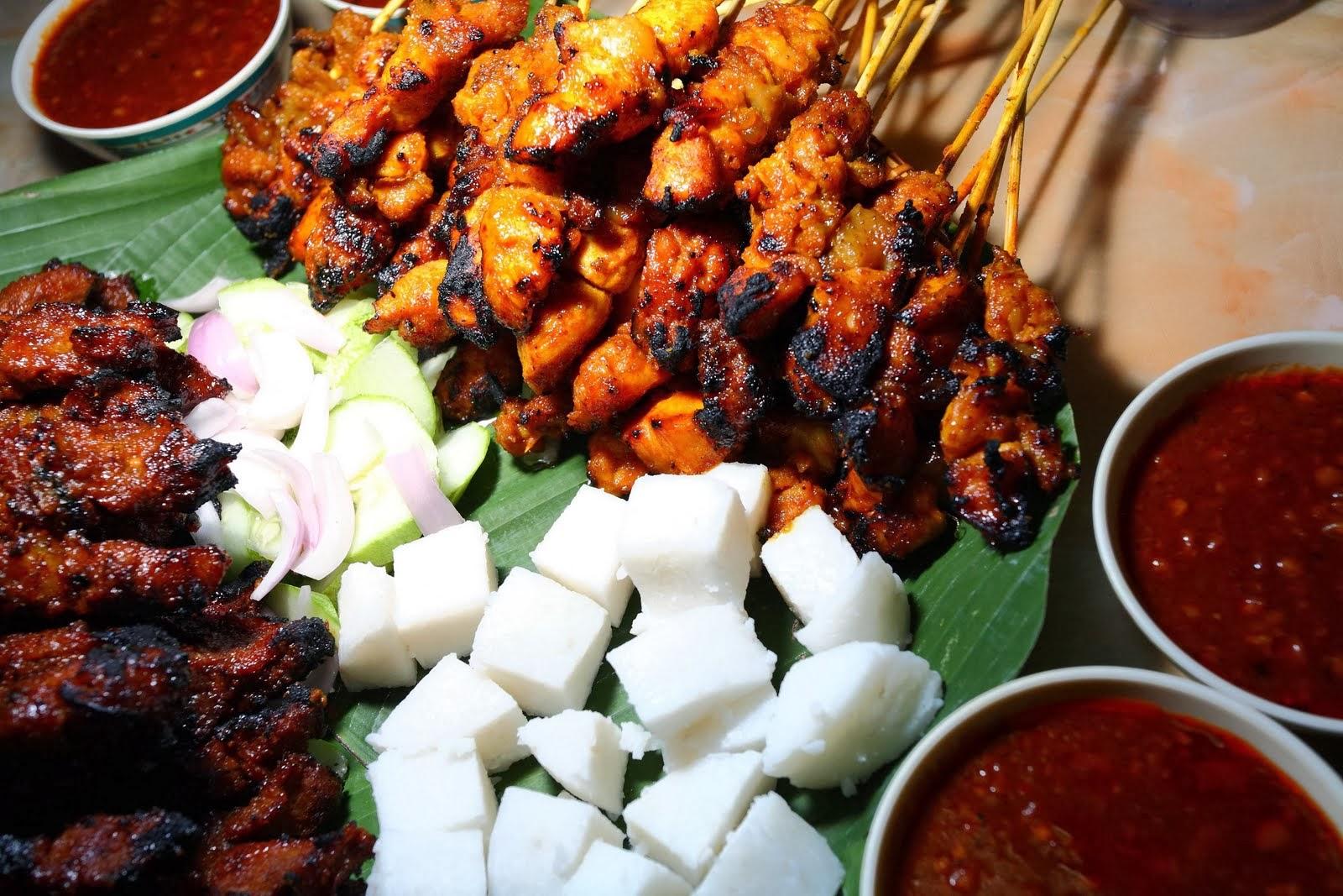 Brochetas Típicas De indonesia Satay ayam