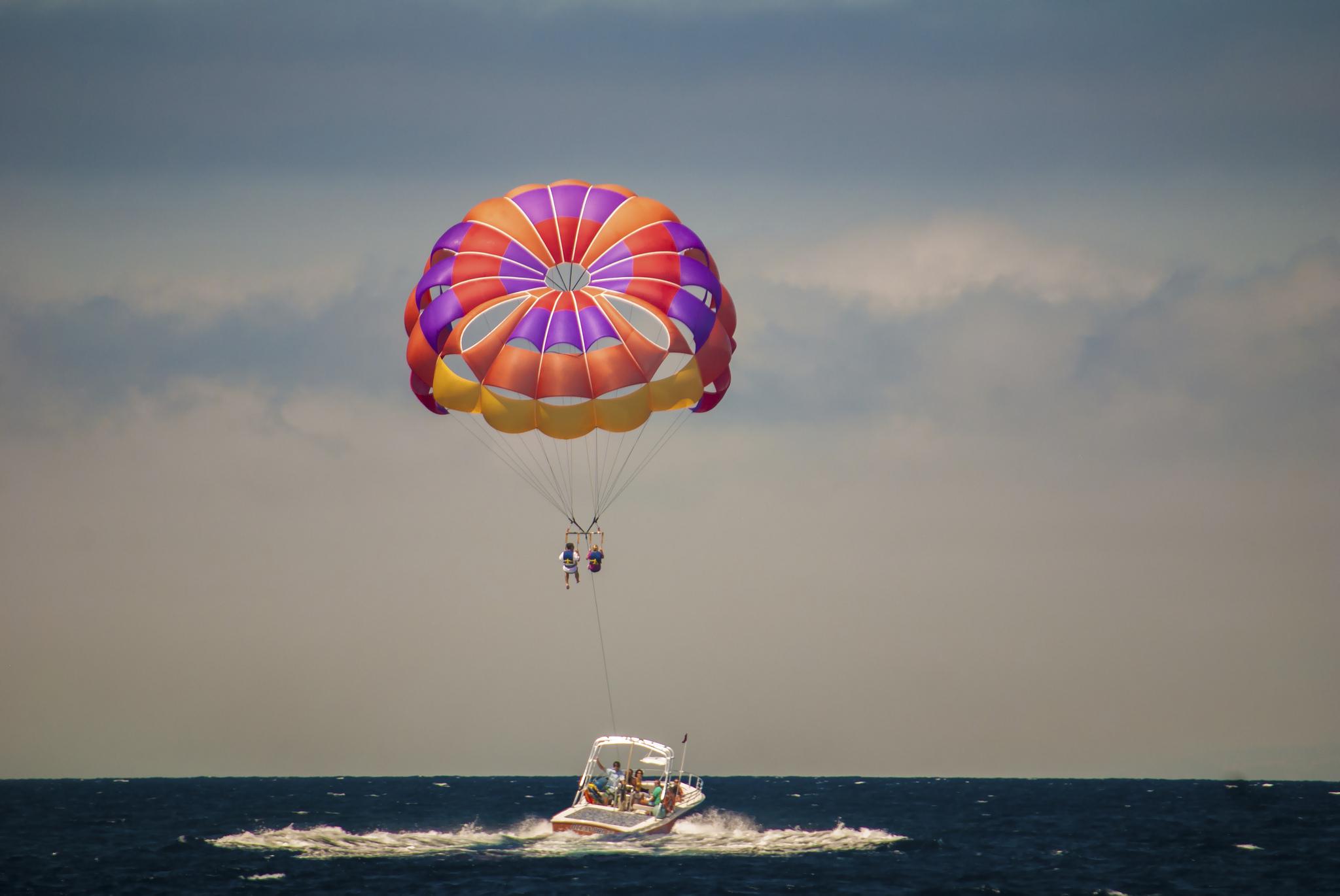 parasailing, windsurfing