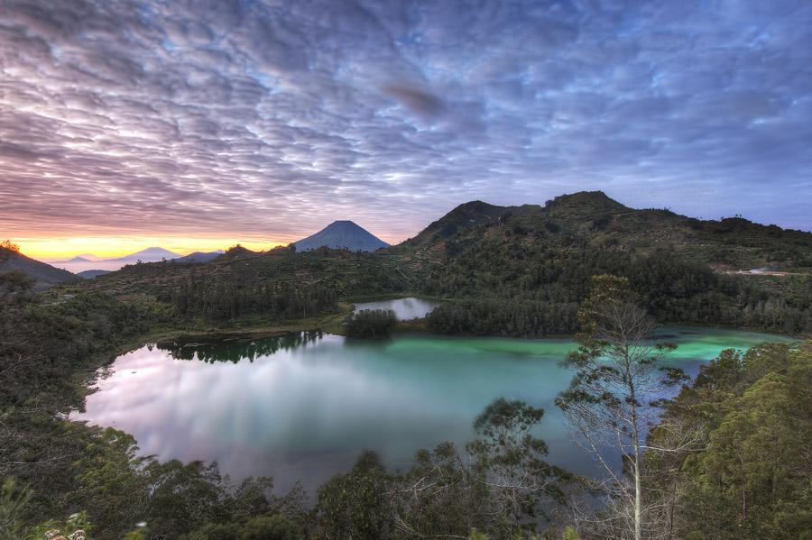 Telaga Warna, Dieng Plateau, Java, Indonesia